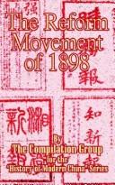the reform movement of 1898 by compilation gro history of modern china