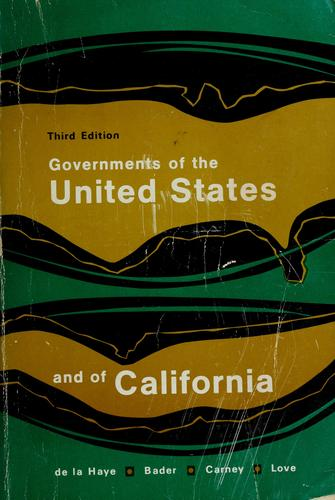 Governments of the United States and of California