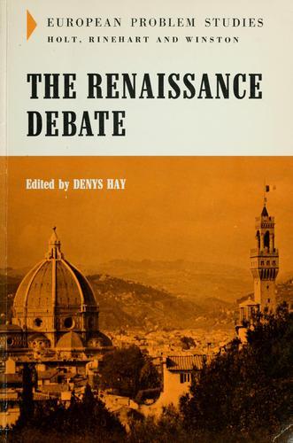 Download The Renaissance debate. —