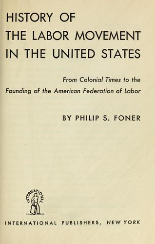 History of the labor movement in the United States …