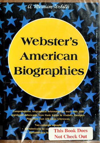 Download Webster's American biographies