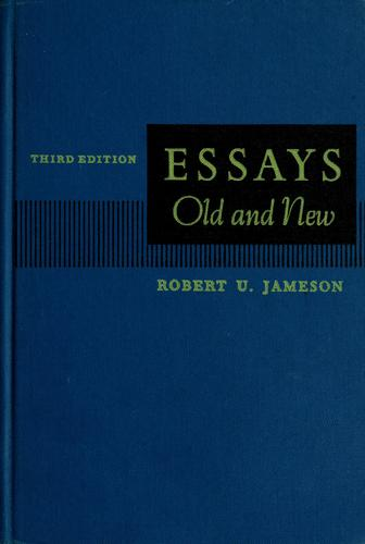 Essays old and new.