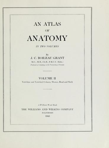 An atlas of anatomy