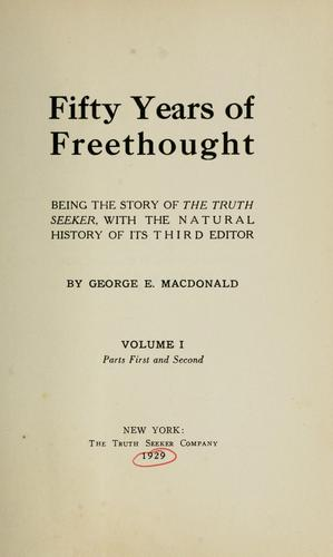 Download Fifty years of freethought