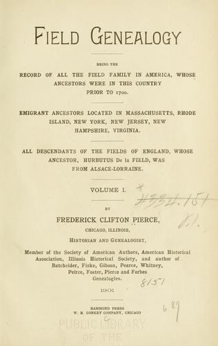 Download Field genealogy