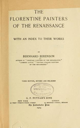Download The Florentine painters of the renaissance
