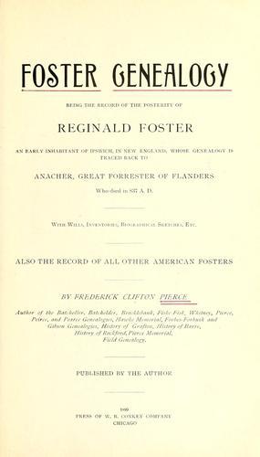 Foster genealogy