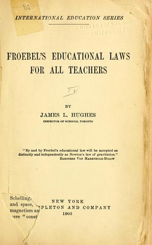 Download Froebel's educational laws for all teachers