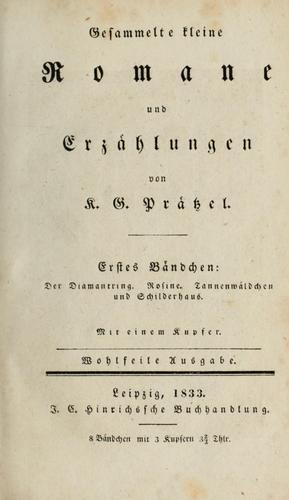 Gesammelte kleine Romane und Erzählungen.