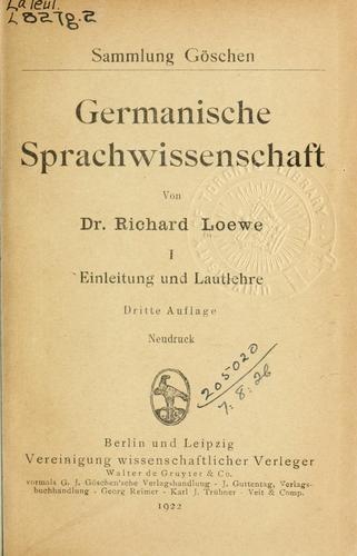Download Germanische Sprachwissenschaft