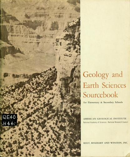 Download Geology and earth sciences sourcebook for elementary and secondary schools.