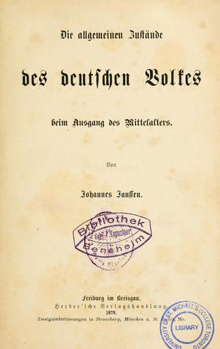 Download Geschichte des deutschen Volkes seit dem Ausgang des Mittelalters