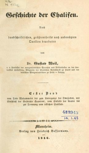 Geschichte der Chalifen.