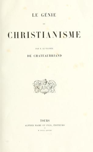 Download Génie du christianisme