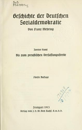 Download Geschichte der deutschen Sozialdemokratie.