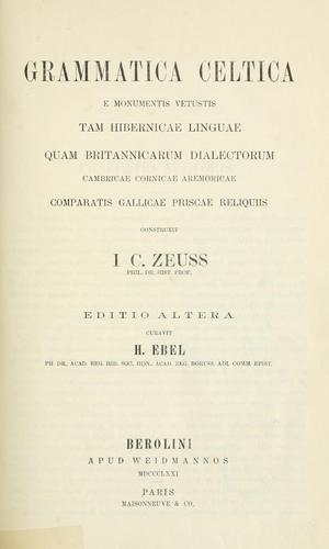 Download Grammatica celtica.