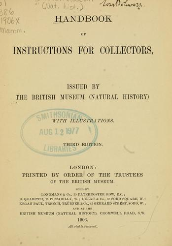 Handbook of instructions for collectors