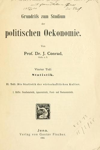 Grundriss zum Studien der politischen Oekonomie.