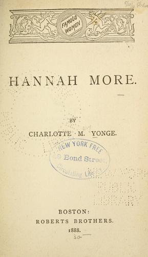 Hannah More.