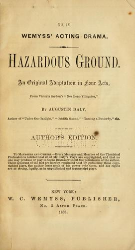 Hazardous ground.