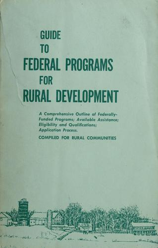 Download Guide to Federal programs for rural development