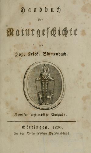 Handbuch der Naturgeschichte.