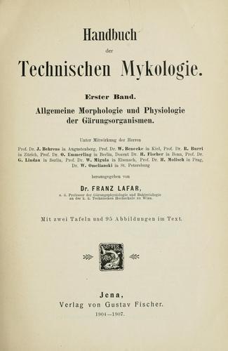 Download Handbuch der technischen Mykologie.