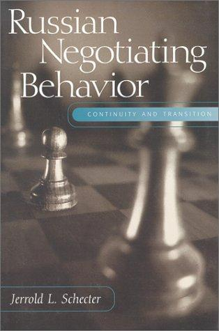 Download Russian negotiating behavior