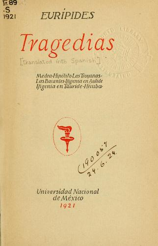Tragedias; translated into Spanish