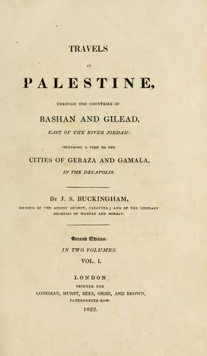 Download Travels in Palestine