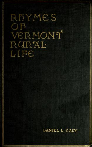 Rhymes of Vermont rural life