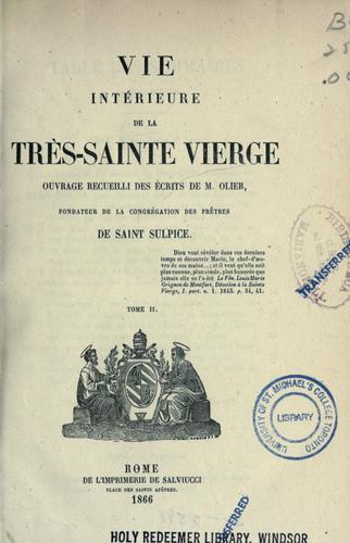 Download Vie intérieure de la Très-Sainte Vierge