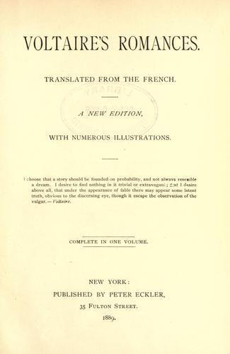 Voltaire's romances