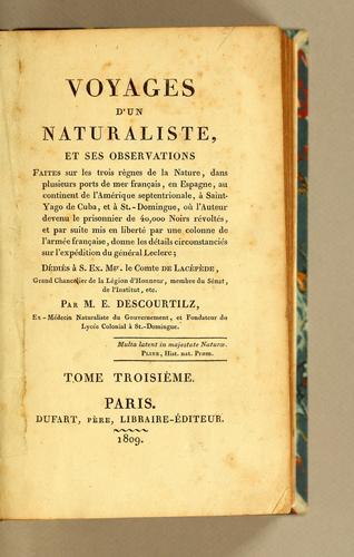 Voyage d'un naturaliste, ..