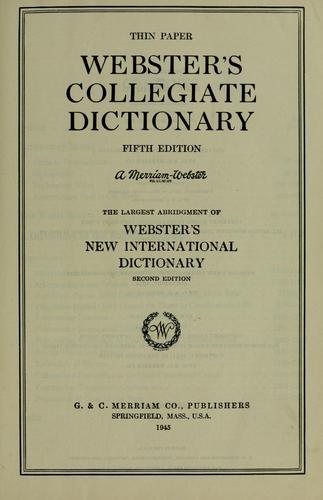 Download Webster's Collegiate dictionary.