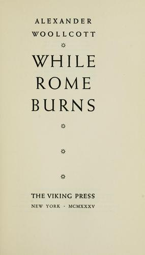 While Rome burns.