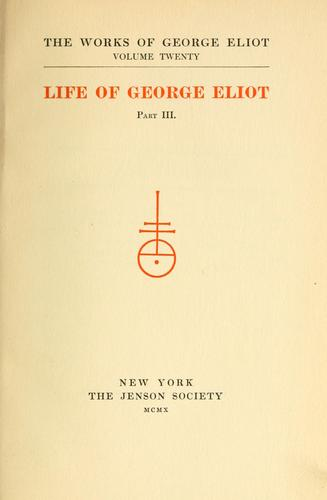 The works of George Eliot.