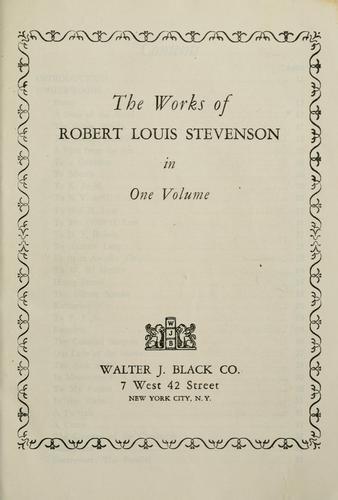 Download The  works of Robert Louis Stevenson