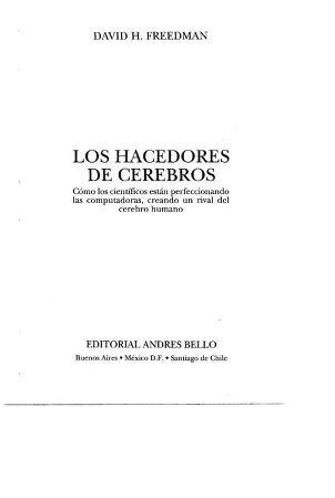 Los hacedores de cerebros by David H. Freedman