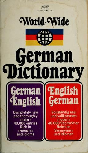 World-wide German dictionary by Paul H. Glucksman