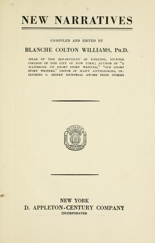 New narratives by Williams, Blanche Colton
