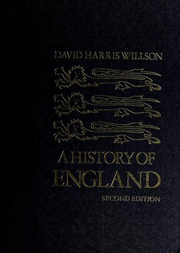 A history of England. by Willson, David Harris