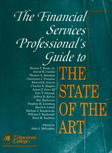 The Financial services professional's guide to the state of the art by