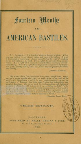 Fourteen months in American bastiles.