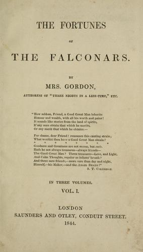The fortunes of the Falconars by Gordon Mrs.