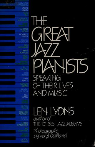 The Great jazz pianists by Leonard Lyons