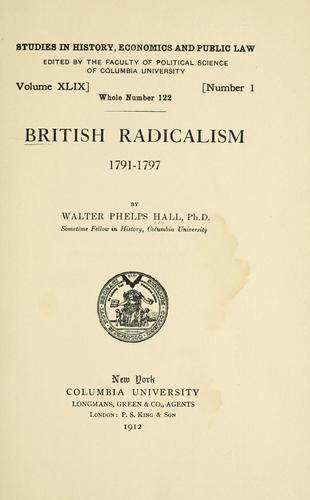 British radicalism, 1791-1797.