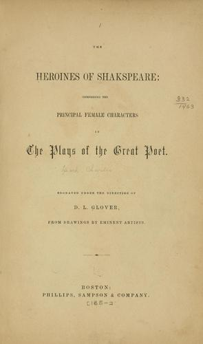 The heroines of Shakespeare by Heath, Charles