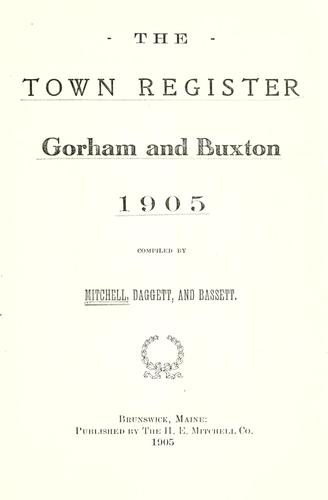 The town register by Mitchell, H. E.