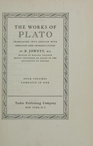 The works of Plato by Plato